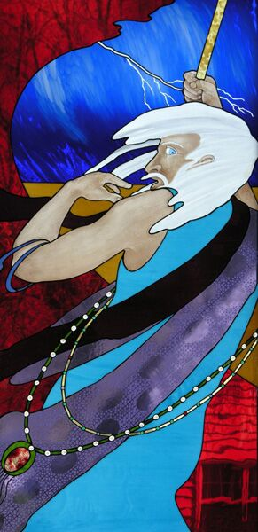 Moses & the Parting of the Red Sea Stained Glass